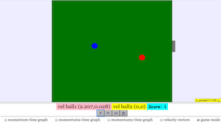 2D Collision with Game JavaScript HTML5 Applet Simulation