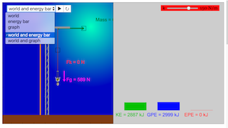 Bungee Jump JavaScript Simulation Applet HTML5 - Open