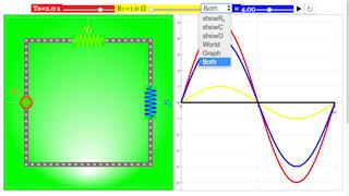 alternating current circuit with resistors capacitor or diode javascript simulation applet. Black Bedroom Furniture Sets. Home Design Ideas