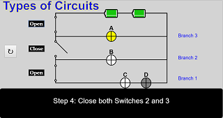 Types of Circuits JavaScript Simulation Applet HTML5 - Open